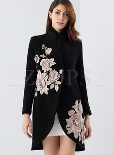 Shop Vintage Long Sleeve Stand Collar Coat at EZPOPSY. Look Fashion, Fashion Details, Hijab Fashion, Winter Fashion, Fashion Dresses, Womens Fashion, Fashion Design, Fashion Ideas, Mode Hijab