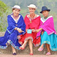 """Pioneer sisters from South Korea, France, and Ecuador dressed for service in Alausi, Ecuador. Photo shared by @ecua_gringo"""