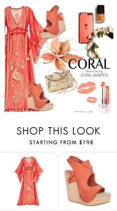 """""""Coral Ambition"""" by clotheshawg ❤ liked on Polyvore featuring beauty, Maybelline, Calypso St. Barth, Max Studio and Juicy Couture"""