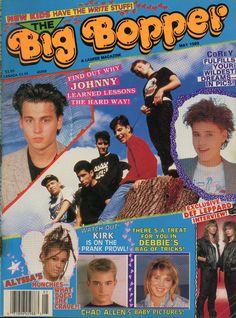 Big Bopper Teen Magazine, May 1989 - Johnny Depp, Def Leppard, Debbie Gibson