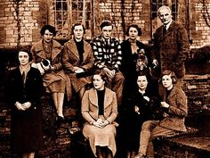 The Mitfords. One of modern history's most remarkable families. Back row (L-R) Lady Redesdale, Nancy, Diana, Tom, Pamela and Lord Redesdale. Front (L-R) Unity, Jessica and Deborah, 1934. Picture: Mitford family / supplied Source: News Corp Australia