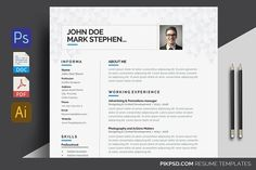 Resume by graphicforest on @creativemarket