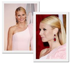 Oscar 2015: Gwyneth Paltrow optou por colorido brinco de Anna Hu (Foto: Getty Images)