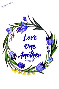 Love One Another 8 x 10 Printable - Geez, Gwen!