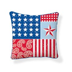 Look at this Americana Reversible Throw Pillow on today! Country Contemporary Decor, Contemporary Decorative Pillows, Outdoor Throw Pillows, Decorative Throw Pillows, Accent Pillows, Soft Pillows, Pillow Set, Throw Pillow Covers, Pillow Talk