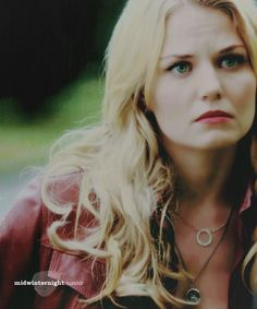 Once Upon A Time: Emma Swan. I can see the resemblance with her between Snow. Just look at the face....