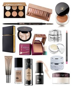 Expensive make up I need to have by juliawalter on Polyvore featuring polyvore, beauty, Hoola, Anastasia Beverly Hills, Urban Decay, Kat Von D, Laura Mercier, MAC Cosmetics, Elizabeth and James, GlamGlow, Chanel and MAKE UP FOR EVER