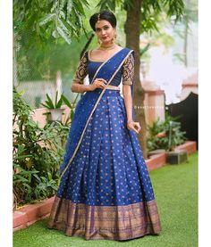Half Saree Lehenga, Lehenga Saree Design, Lehnga Dress, Bollywood Lehenga, Lehenga Style, Bridal Lehenga Choli, Brocade Saree, Set Saree, Saree Gown