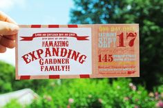 "Photo 5 of 25: Carnival/Circus / Baby Shower/Sip & See ""Step Right Up to see the amazing expanding family"" 