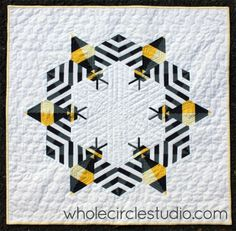 bee quilt via whole circle studio