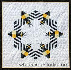 bee quilt via whole circle studio