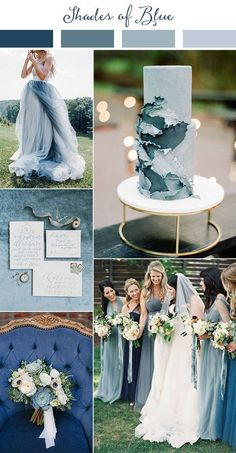Wedding Trends shades of blue wedding color ideas for 2019 - Planning a 2019 wedding? Come get inspired by these gorgeous 2019 wedding color palette ideas! This year we're finding inspiration from all over the world. Popular Wedding Colors, Summer Wedding Colors, Perfect Wedding, Dream Wedding, Wedding Day, Wedding Ceremony, Wedding Venues, Luxury Wedding, Reception