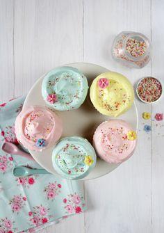 Postreadicción: cupcakes colores pastel