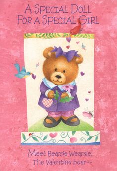 Valentine Paper Doll Cards - Bearsie Wearsie. Cute Cute Cute