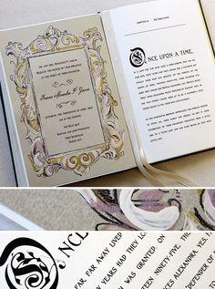 Fairy Tale Story Book Wedding Invitation