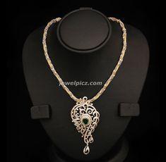 Latest Indian Jewellery designs: Emerald stone diamond necklace by VBJ Indian Jewellery Design, Indian Jewelry, Jewelry Design, Pendant Set, Diamond Pendant, Pendant Necklace, Emerald Stone, Emerald Diamond, Gold Jewelry