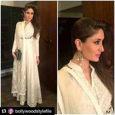 White anarkali Kareena kapoor