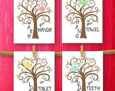 Owls Kids Bathroom Art Decor Bathroom Artwork Printable Art Print Instant  Download Bathroom Wall Quote Sign | Crafts | Pinterest | Kid Bathroom  Decor, ...