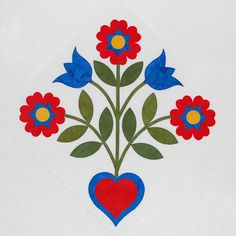 One Piece at a Time Rose of Sharon Applique Pattern