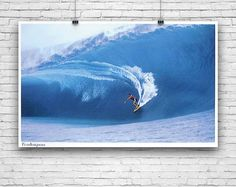 "Teahupo, Tahiti, French Polynesia, Surfing, Surfer, Billabong, Surf Break, Barrel Waves, Photography Poster 24""x36"" #teahupo #photographyprint #photo #photographyposter #blackandwhitephotography #colorphotography #posters"