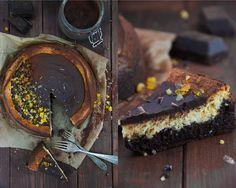 Krümelkreationen: Brownie-Cheesecake mit Ricotta und kandierten Früc...
