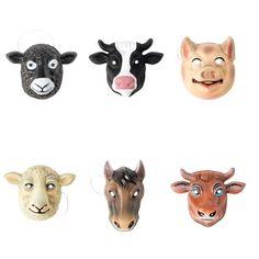 CADEAUX A MOINS DE 10 EUROS  Masque animaux de la ferme  4€