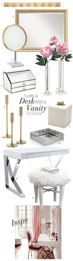 How to Turn Your Desk Into a Vanity - #organizedbeauty #storage #organization Nail Design, Nail Art, Nail Salon, Irvine, Newport Beach