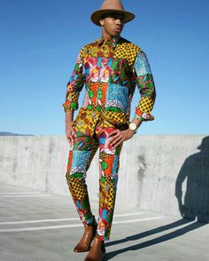 Ankara Xclusive: Simplest Ankara Styles For Real Men 2018 by Zahra Delong African Attire For Men, African Clothing For Men, African Wear, Children Clothing, African Inspired Fashion, African Print Fashion, Africa Fashion, Ankara Fashion, Moda Afro