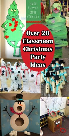 Classroom Christmas Party Ideas with Christmas around the corner, many teachers are busy trying to plan the kids Christmas party in the classroom, so we have ro Christmas Party Table, School Christmas Party, Christmas Games For Kids, Christmas Fun, Christmas Classroom Treats, 2nd Grade Christmas Crafts, Minute To Win It Games Christmas, Work Christmas Party Ideas, Kindergarten Christmas Crafts
