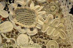Application 2 4 inches 5-10 cm Irish crochet jewelry by AlisaSonya