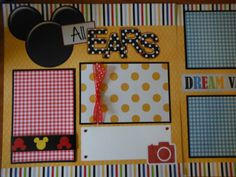 I'm All Ears  Premade DISNEY WORLD LAND Scrapbook Pages for Mickey Mouse