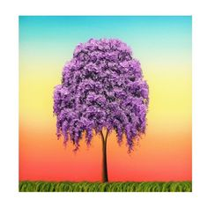 Weeping Willow Tree Art Print, Giclee Print of Purple Tree Painting,... ($15) ❤ liked on Polyvore featuring home, home decor, wall art, surreal paintings, inspirational wall art, people tree, landscape trees and purple tree