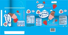 Dipper Minis Ice Cream Box – Flat View
