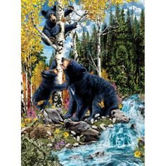 15 Black Bears hidden in this puzzle. 1000 pieces, 20 x 27. Artist: Stephen Michael Gardner.Sunsout puzzles are 100% made in the USAEco-friendly soy-based inksRecycled boardsNot sold in mass-market stores