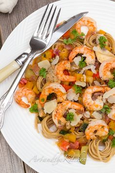 Pasta with Shrimp and Wine Sauce | Art and the Kitchen