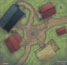 Village Square - Chosen by patrons for hitting our first goal! : battlemaps