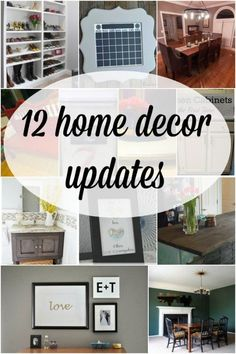 12 Home Decor Updates + Link Party - Remodelaholic
