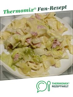 Pointed cabbage with ribbon pasta - Recipe pointed cabbage with ribbon pasta by – recipe of the main course with vegetables - Pasta Recipes, Salad Recipes, Ribbon Pasta, Healthy Drinks, Healthy Recipes, Tortellini, Potato Salad, Cabbage, Clean Eating