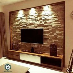 TV wall unit Designs is an essential part while designing your living room, Bedroom or tv room. Tv Stand Designs For Living Room have to be. Home Room Design, Interior Design Living Room, Living Room Decor, House Design, Interior Livingroom, Lcd Wall Design, Ceiling Design, Modern Tv Wall Units, Living Room Tv Unit Designs
