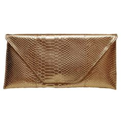 """Senior Dating Tip - Leave you """"big, big, bag at home."""" Take a striking metallic clutch is an INSTANT way to take an outfit from day to night!"""