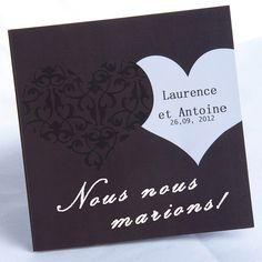 faire part de mariage - http://www.joyeuxmariage.fr/boutique