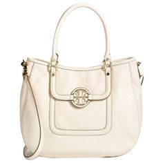 Pre-owned Tory Burch Amanda Classic Hobo Bag ($400) ❤ liked on Polyvore featuring bags, handbags, shoulder bags, bleach, tory burch handbags, hobo purses, messenger shoulder bag, shoulder strap bags and pink leather handbags