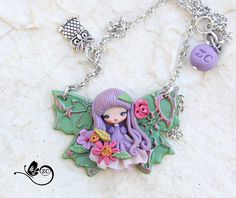 polymer clay necklace / fairy / clay / fimo / zingara creativa / september doll