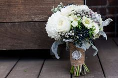 white, grey and black bouquet!!!  obviously with a little more white and different wrapping