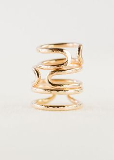 kaui ring gold rings cuff ring stacking ring by kealohajewelry