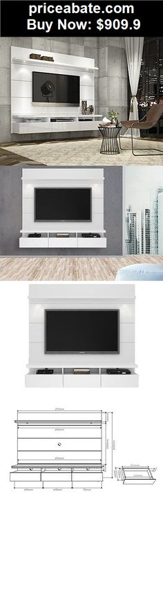 Furniture: Tv Stand Entertainment Center Furniture Floating Wall Panel Home Flat Screen  - BUY IT NOW ONLY $909.9