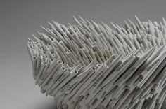 """Made in China Detail 2012 Made in China Series Paper H12 x W12 x D10 inches H30 x w30 x D25 cm  """"…part of a series of conceptual paper..."""