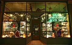 Shop of curiosities with a dinosaur museum tucked in its basement