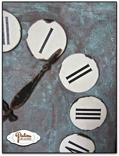 Verdigris Clock Face with Modern Masters Metal Effects Copper and Green Patina | Project by Patina Paradise