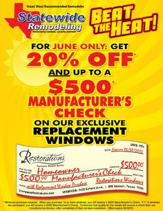 Contact us today to take advantage of our June window special! Say Hello, Sunroom, Home Remodeling, Innovation, Restoration, Promotion, June, Events, Windows